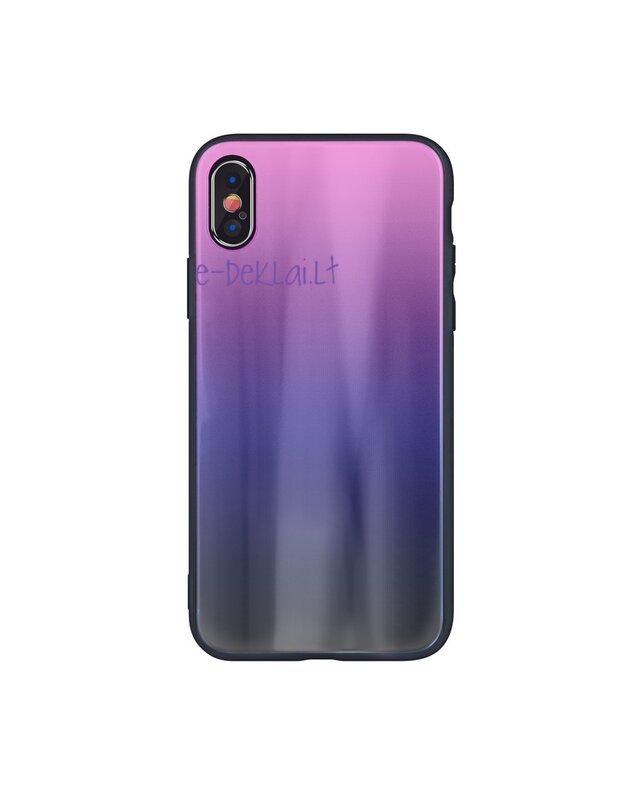 Dėklas Xiaomi Redmi 7A Aurora, rožinis/juodas