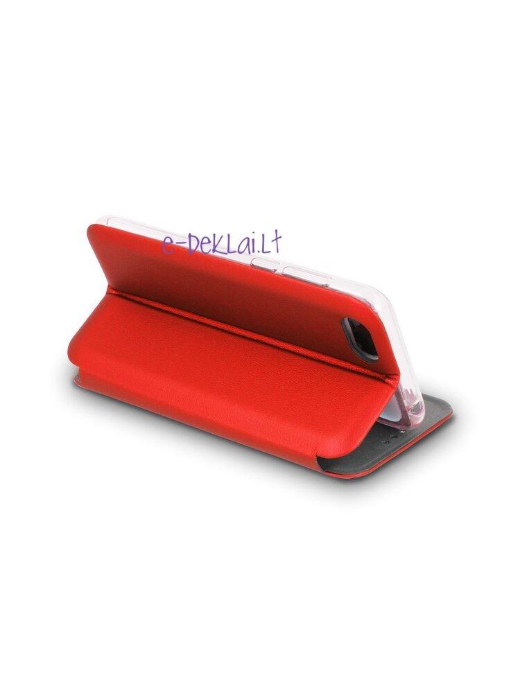 Dėklas Xiaomi Redmi Note 9S / Redmi Note 9 Pro Book Elegance, raudonas