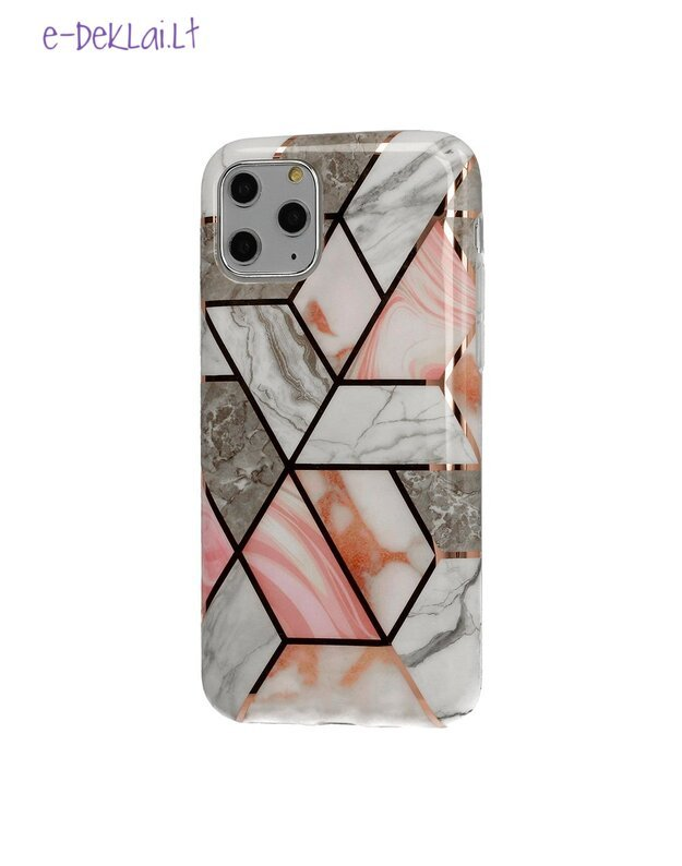 Dėklas Apple iPhone 11 Cosmo Marble, rudas