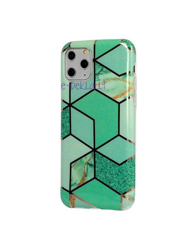 Dėklas Apple iPhone XR Cosmo Marble, žalias
