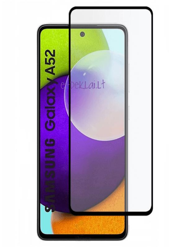 Apsauginis stikliukas Samsung A52 9H 5D pilnai dengiantis ekraną