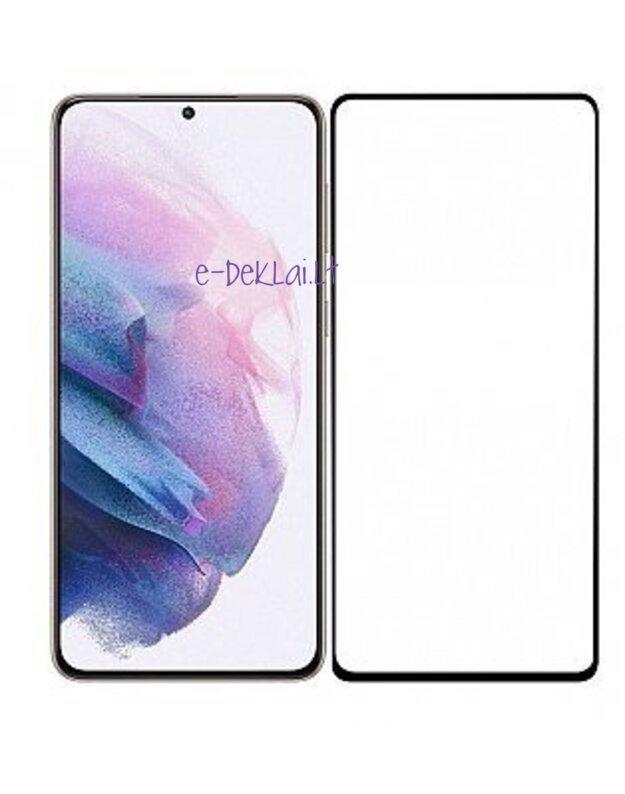 Apsauginis stikliukas Samsung S21 FE 5D pilnai dengiantis ekraną