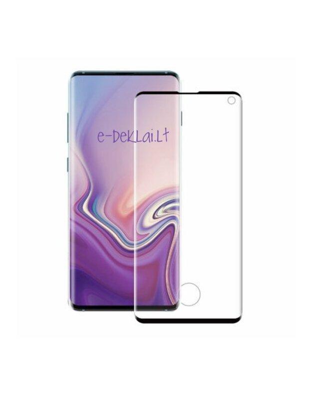 Apsauginis stikliukas Samsung Note 20 3D pilnas, su juodu rėmeliu