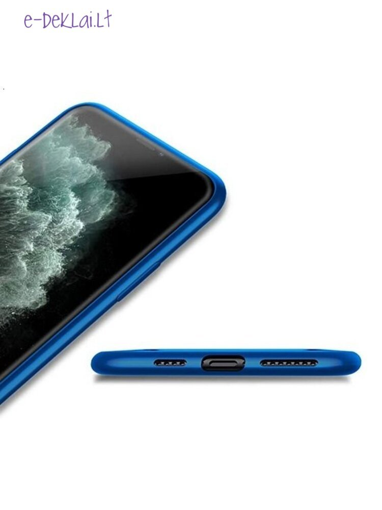 Dėklas silikoninis Samsung S21 Pipilu Guardian, mėlynas