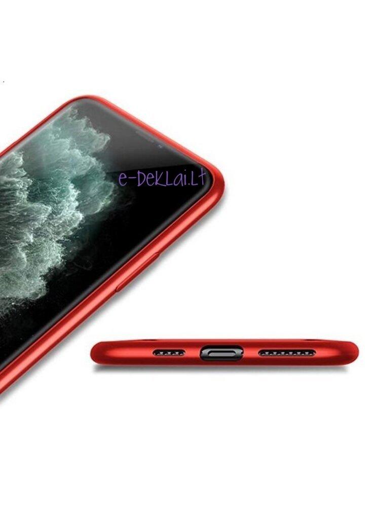 Dėklas silikoninis Samsung S21 Ultra X-Level Guardian, raudonas