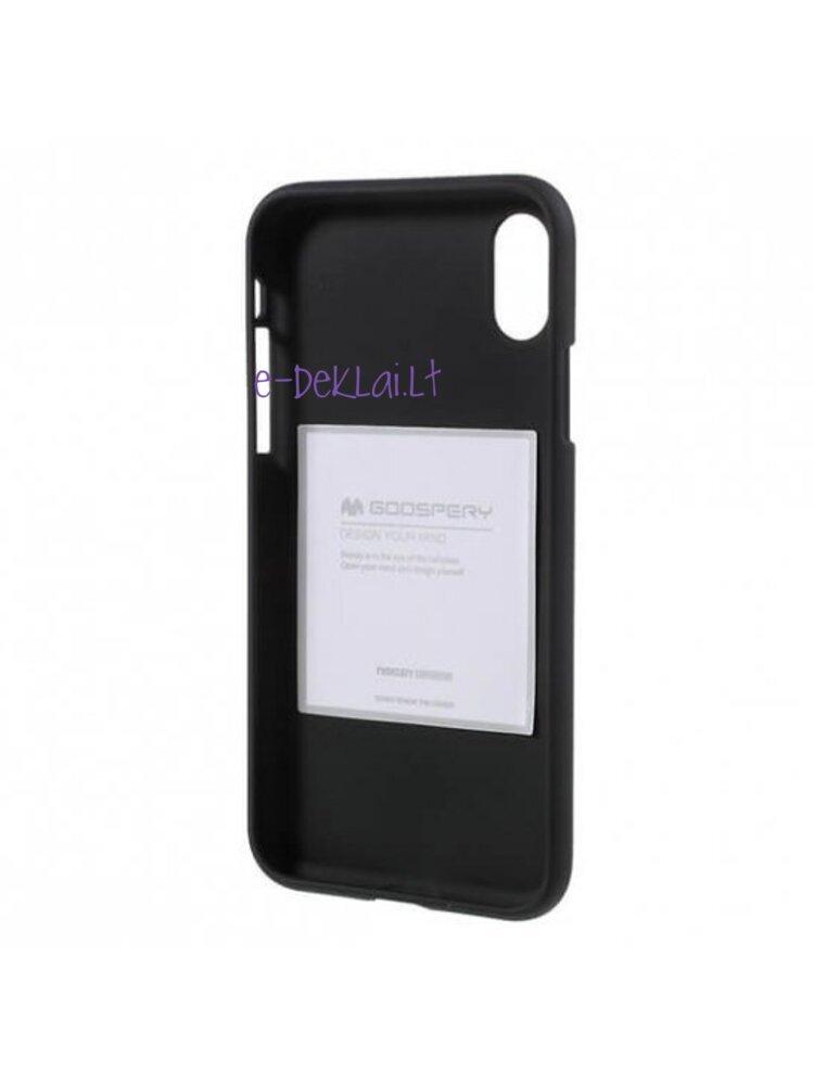 Dėklas Nokia 3.1 Plus Jelly Soft, juodas
