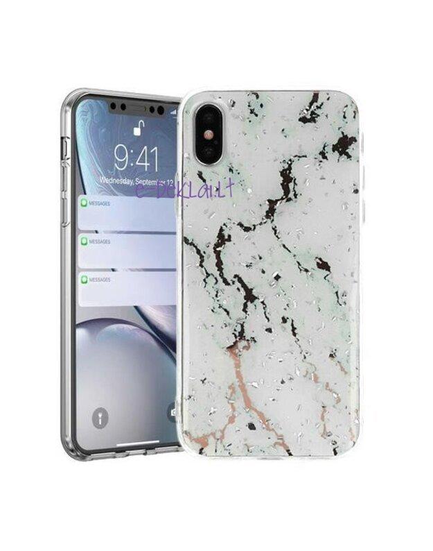 Dėklas Xiaomi Redmi 9 Marble, baltas