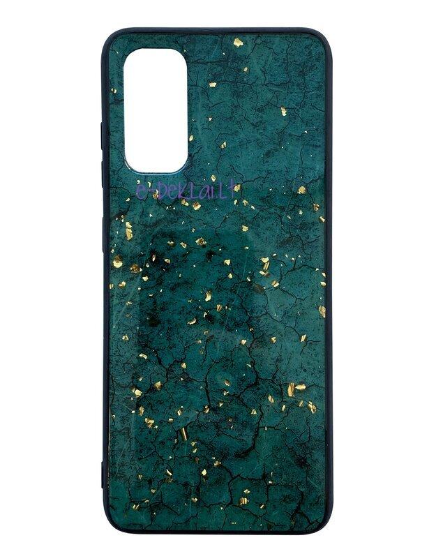 Dėklas Samsung G981 S20 Marble, žalias