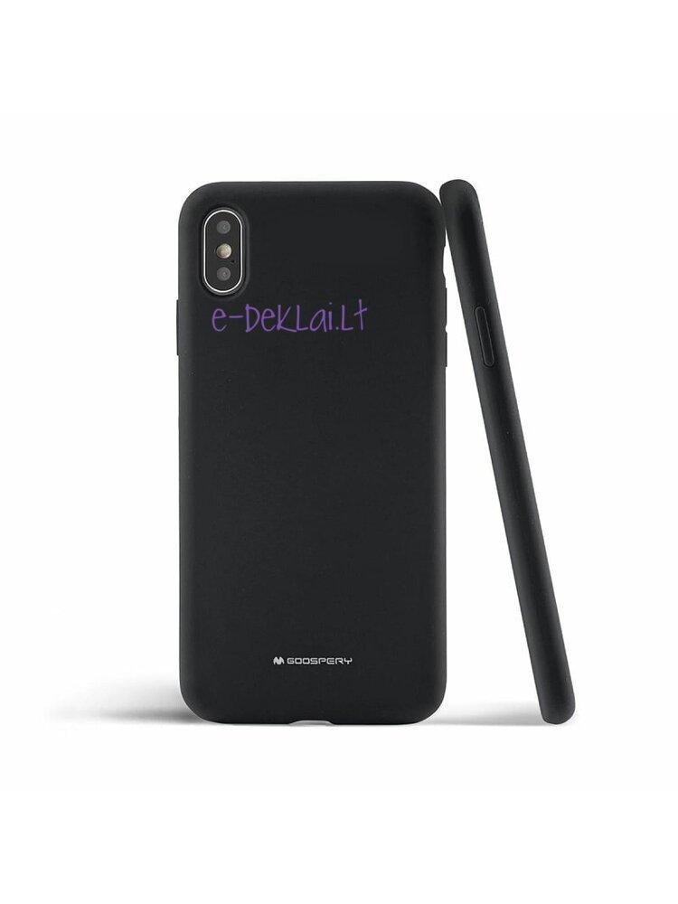 Dėklas Apple iPhone 12 Pro Mercury Silicone case, juodas