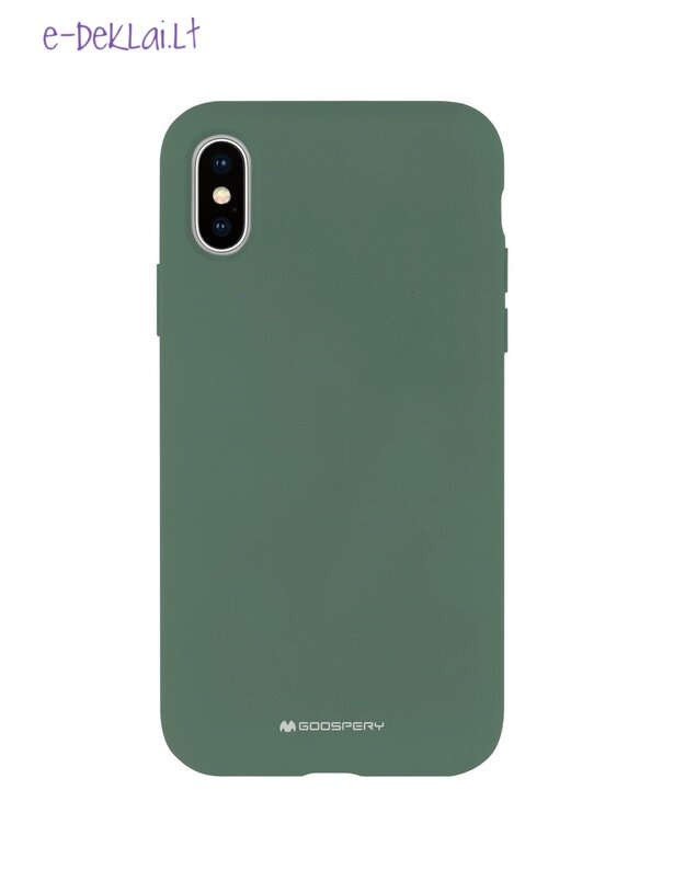 Dėklas Apple iPhone 12 Mercury Silicone case, žalias