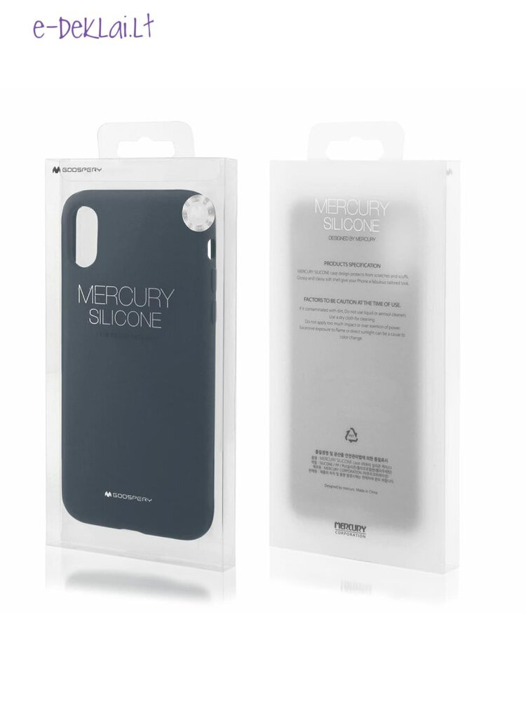 Dėklas Apple iPhone 12 Pro Max Mercury Silicone case, mėlynas