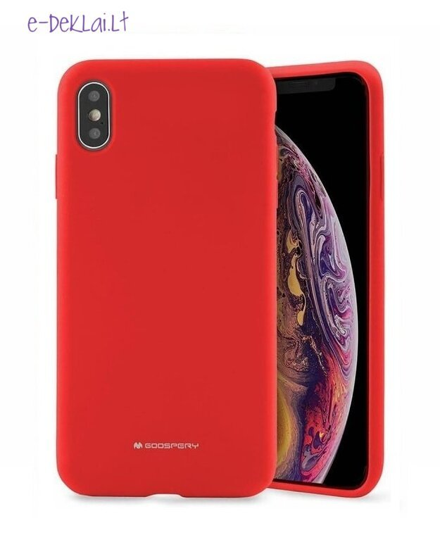 Dėklas Apple iPhone 12 Pro Mercury Silicone case, raudonas