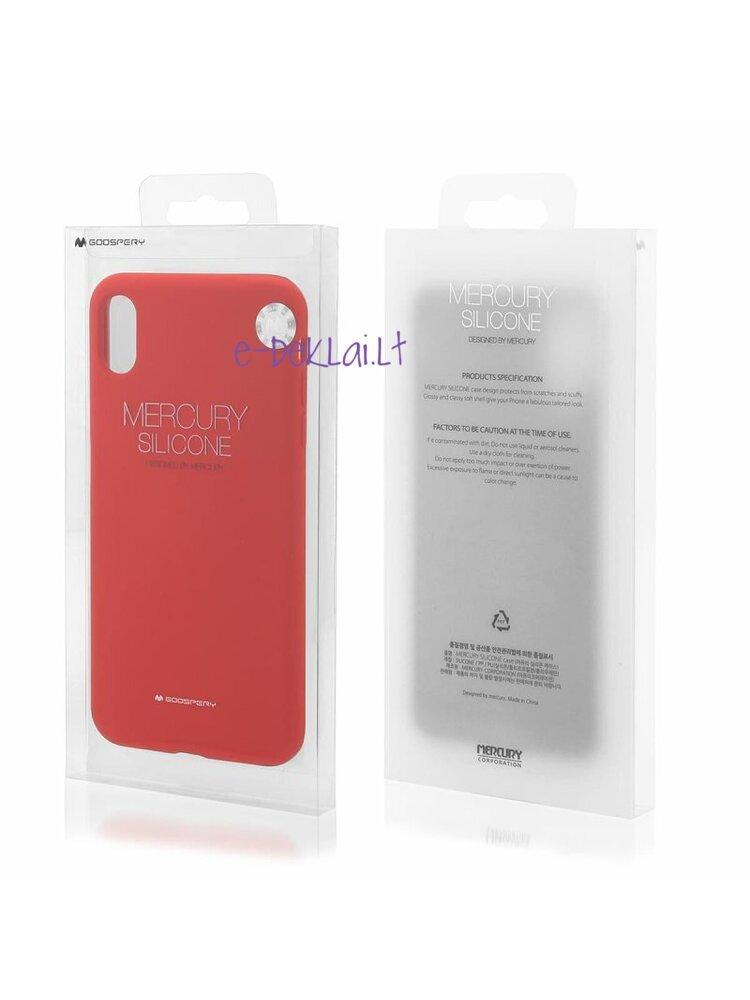 Dėklas Apple iPhone 12 Pro Mercury Silicone case, raudonas