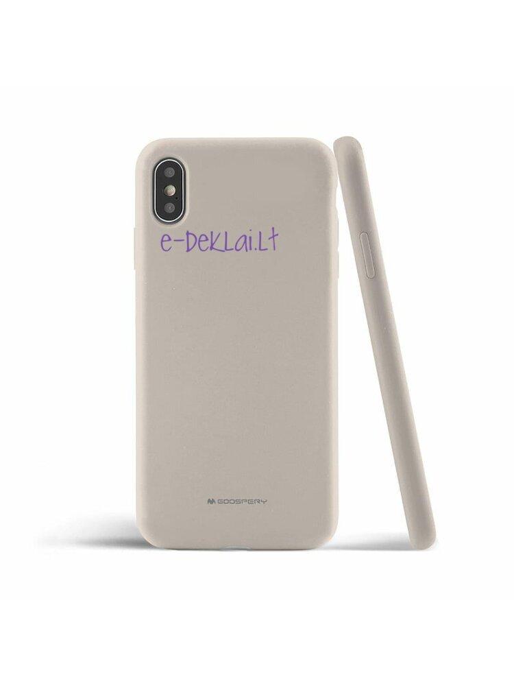 Dėklas Apple iPhone 12 Pro Mercury Silicone case, akmens pilkas