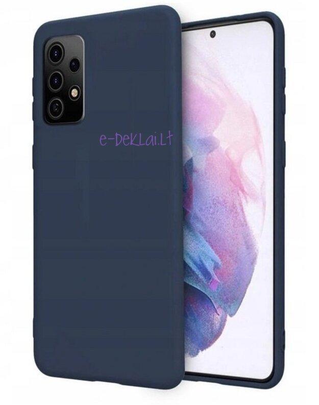 Dėklas silikoninis Samsung S21 FE Rubber, mėlynas