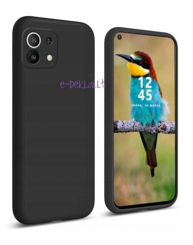 Dėklas guminis Xiaomi Mi 11 Lite Rubber, juodas