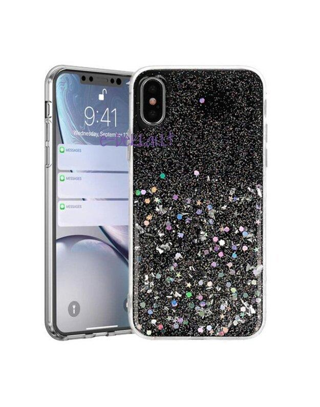 Dėklas Samsung A750 A7 2018 Vennus Brilliant, juodas