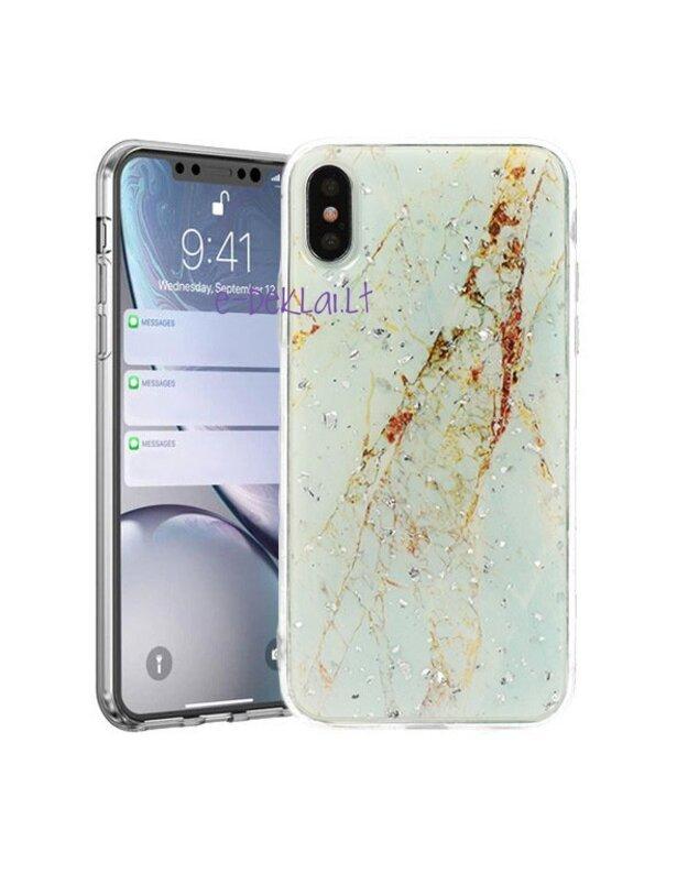 Dėklas Samsung A105 A10 Vennus Brilliant, baltas